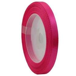 6mm Senorita Satin Ribbon - Magenta 241