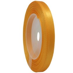 6mm Senorita Satin Ribbon - Moon Yellow 245