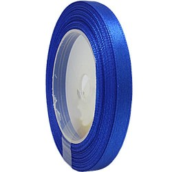 6mm Senorita Satin Ribbon - Electric Blue 25
