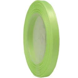 6mm Senorita Satin Ribbon - Apple Green 250