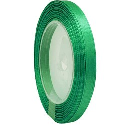 6mm Senorita Satin Ribbon - Forest Green 26