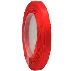 6mm Senorita Satin Ribbon - Red 28