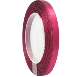 6mm Senorita Satin Ribbon - Red Wine 29