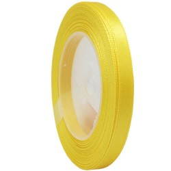 6mm Senorita Satin Ribbon - Yellow 3