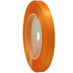 6mm Senorita Satin Ribbon - Orange 6