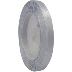 6mm Senorita Satin Ribbon - Light Grey 77