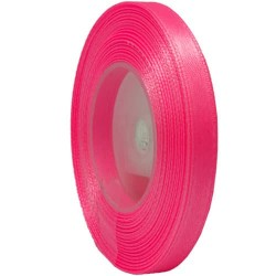 6mm Senorita Satin Ribbon - Fluorescent Pink F106