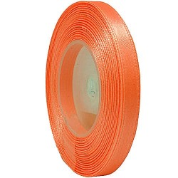 6mm Senorita Satin Ribbon - Fluorescent  Orange F108