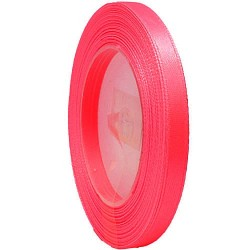 6mm Senorita Satin Ribbon - Neon Pink F109
