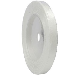 6mm Senorita Satin Ribbon - White