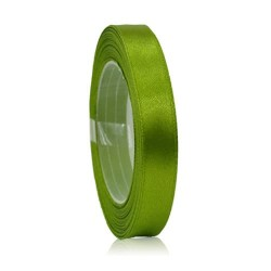 9mm Senorita Satin Ribbon - Olive Green 208