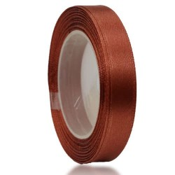 9mm Senorita Satin Ribbon - Cinnamon 568