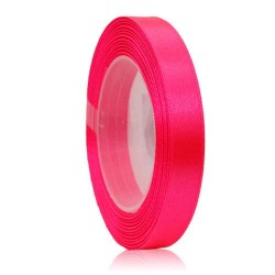 9mm Senorita Satin Ribbon - Fluorescent Pink F106