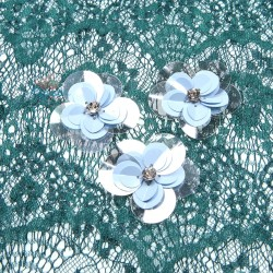 #3028 Sequin Diamond Flower Sky Blue - 3 pcs