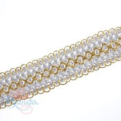 #511 Silver Gold Metallic Trimming - 1 Meter