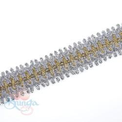 #66 Silver Gold Metallic Trimming - 1 Meter