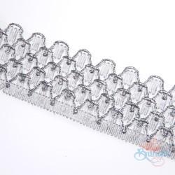 #010A Silver Metallic Trimming - 1 Meter