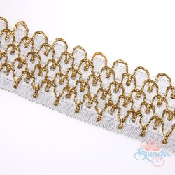 #010A Silver Gold Metallic Trimming - 1 Meter