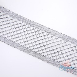 #F144 Silver Metallic Trimming - 1 Meter