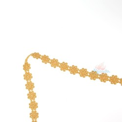 1031 Small Chemical Prada Lace Golden Rod - 1 Meter