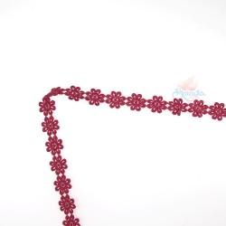 1031 Small Chemical Prada Lace Maroon - 1 Meter