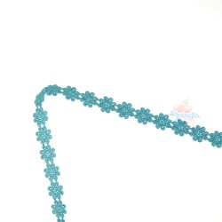 1031 Small Chemical Prada Lace Teal Green - 1 Meter