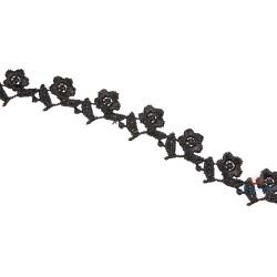 1032 Small Chemical Prada Lace Black - 1 Meter