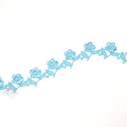 1032 Small Chemical Prada Lace Sky Blue - 1 Meter