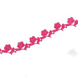 1032 Small Chemical Prada Lace Crimson Pink - 1 Meter