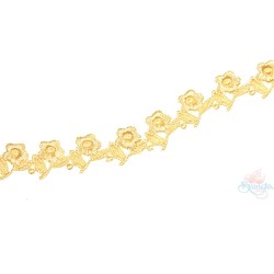 1032 Small Chemical Prada Lace Gold Yellow - 1 Meter