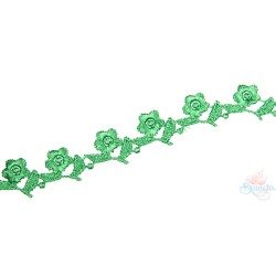 1032 Small Chemical Prada Lace Green - 1 Meter