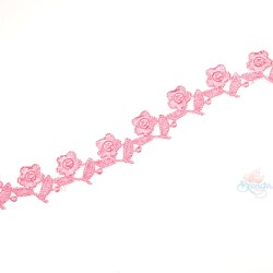 1032 Small Chemical Prada Lace Light Pink - 1 Meter