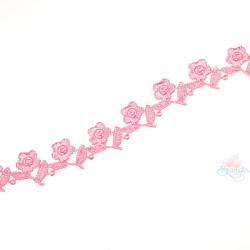 1032 Small Chemical Prada Lace Light Pink - 1 Meter