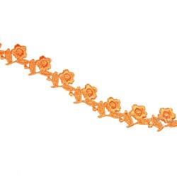 1032 Small Chemical Prada Lace Orange - 1 Meter