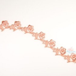 1032 Small Chemical Prada Lace Peach - 1 Meter