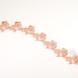 1032 Small Chemical Prada Lace Peach - 1 Meter