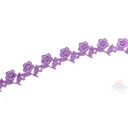 1032 Small Chemical Prada Lace Light Purple - 1 Meter