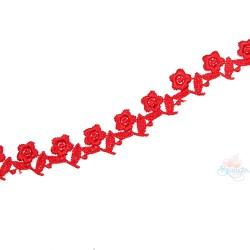 1032 Small Chemical Prada Lace Red - 1 Meter