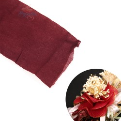 Stocking Cloth for DIY Flower - Maroon 1 piece