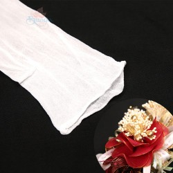 Stocking Cloth for DIY Flower - White 1 piece