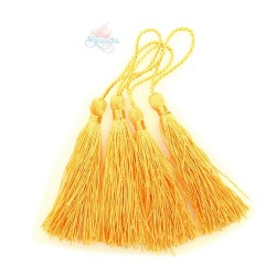#066 Cotton Tassel 8cm - Light Orange (4pcs)