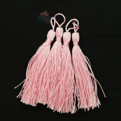 #066 Cotton Tassel 8cm - Baby Pink (4pcs)