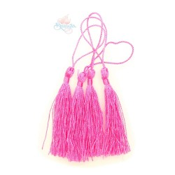 #066 Cotton Tassel 8cm - Shocking Pink (4pcs)