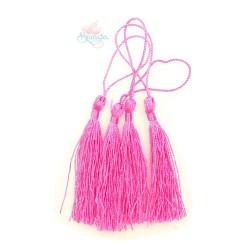 #066 Cotton Tassel 8cm - Shocking Pink (4pcs)
