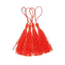 #066 Cotton Tassel 8cm - Red (4pcs)