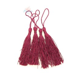 #066 Cotton Tassel 8cm - Maroon (4pcs)
