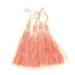 #066 Cotton Tassel 8cm - Light Peach (4pcs)