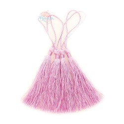 #066 Cotton Tassel 8cm - Light Magenta (4pcs)