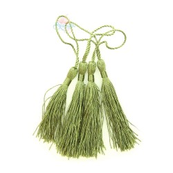 #066 Cotton Tassel 8cm - Olive Green (4pcs)