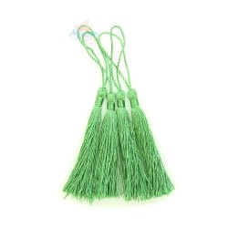 Rayon Polyester Tassels #066 8cm -  536 Apple Green (4pcs)